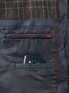 Steppleder Jacke Marine Detail 4