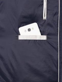 Leichtsteppjacke Hemdstil Marine Detail 3