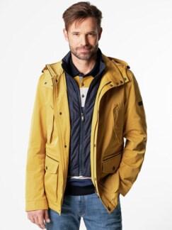 Zip-In-Jacke Gelb Detail 2
