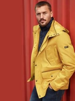Zip-In-Jacke Gelb Detail 3