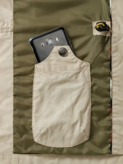 Multipocket-Jacke Beige Detail 3