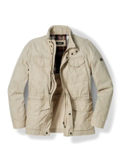 Multipocket-Jacke Beige Detail 1