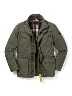 Multipocket Jacke Khaki Detail 1
