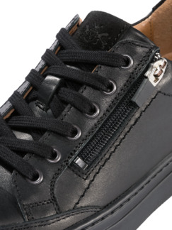 Reißverschluss-Sneaker Schwarz Detail 4