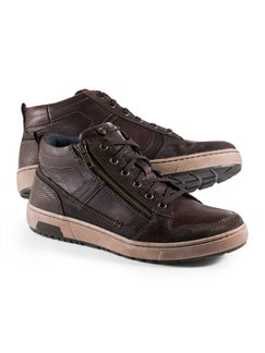 Kalbsleder-Sneaker High Top Braun Detail 1