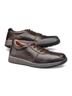 Bequem Sneaker Braun Detail 1
