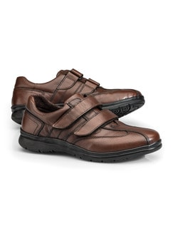 Active-Air Klettschuh Cognac Detail 1