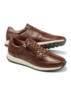 Bequem Hirschleder-Sneaker Cognac Detail 1