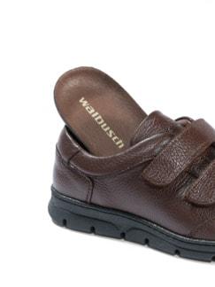 Hirschleder Doppelklett-Sneaker Braun Detail 3