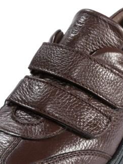 Hirschleder Doppelklett-Sneaker Braun Detail 4