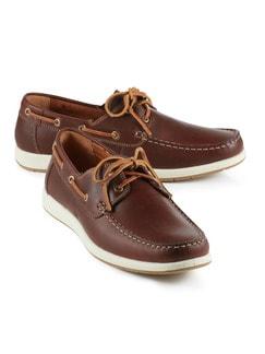 Boots-Schuh Braun Detail 1