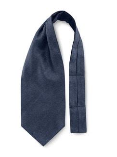 Krawattenschal Tweedoptik Dunkelblau Detail 1