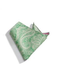 Einstecktuch Tupfen Paisley Cyclam/Grün Detail 1