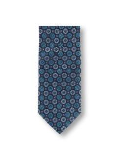 Geometrie-Krawatte Marine/Petrol Detail 1