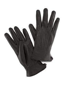 Ziegennappa Handschuhe Schwarz Detail 1