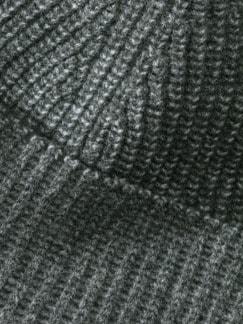 Woll-Strickmütze Grau Detail 3