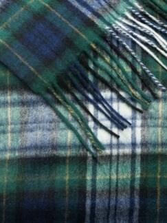 Wollschal Dress Gordon Marine/Grün Detail 3