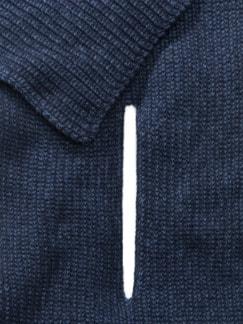 Woll-Strickschal Marine Detail 3
