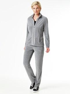 Nicki Homewear Jacke Grau Detail 4