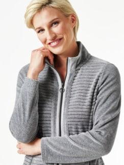 Nicki Homewear Jacke Grau Detail 3