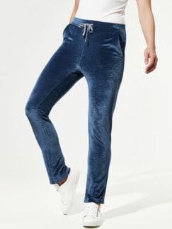 Nicki Homewear Hose Mittelblau Detail 1