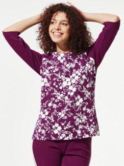 Sweatshirt Blumenpracht Waldbeere/Weiß Detail 1