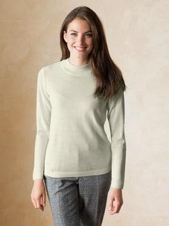 Merino Mix Stehbund-Pullover Wollweiß Detail 1