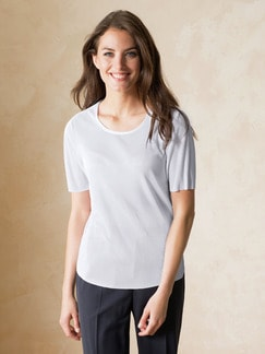 Franca Francani Plissee-Shirt Weiß Detail 1