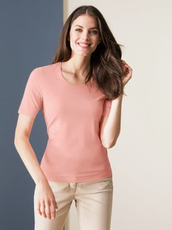 Viskose-Shirt Pfirsich Detail 1