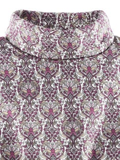 Viskoserolli Ornament-Print Magnolie/Grau Detail 4