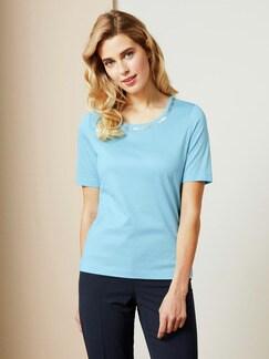 Collier-Shirt Soft Aqua Detail 1