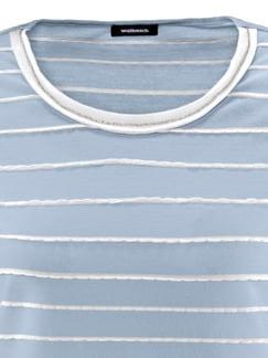 Shirt Strukturstreifen Hellblau/Offwhite Detail 4