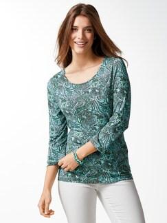 Paisley-Shirt Aqua Detail 1
