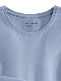 Viskose Shirt Langarm Rauchblau Detail 3