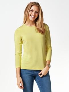 Viskose Shirt Langarm Gelb Detail 1