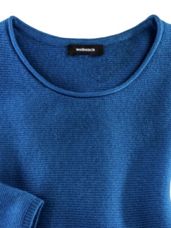 Cashmere Leicht-Pullover Palazzoblau Detail 3