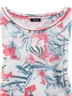 Shirt Aquarellblume Offwhite gem. Detail 4
