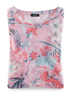 Shirtbluse Aquarellblume