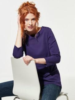 Shirt Soft-Ripp Violett Detail 1