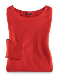 Shirt Soft-Ripp Karminrot Detail 2