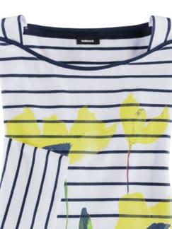 Bretonshirt Klatschmohn Gelb Detail 3