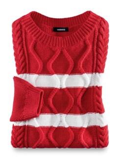 Reiskorn-Pullover Zopfmix