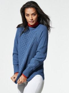 Wabenstruktur-Pullover