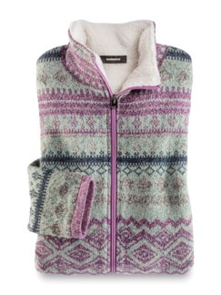 Thermo Strickfleece-Jacke Norwegermuster Detail 2