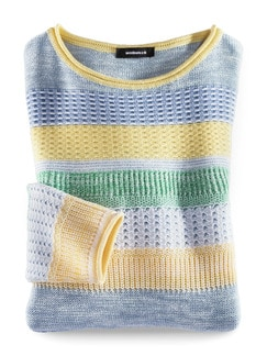 Pullover Quattro Colori Gelb/Grün Detail 2