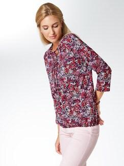 Shirt Millefleurs Marine/Pink Detail 1