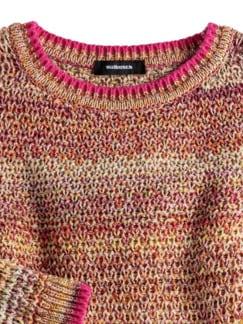 Multicolor-Pullover Wabenstrick Pink gemustert Detail 3