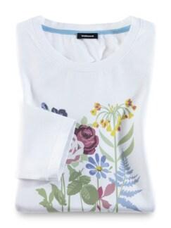 Baumwoll-Shirt Aquarellblume