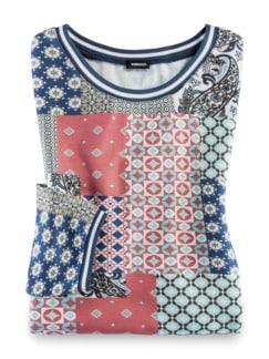 Blouson-Shirt Lissabon Teerose Multicolor Detail 2