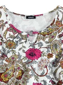 Blouson-Shirt Blumen-Paisley Fuchsia/Rose Detail 3